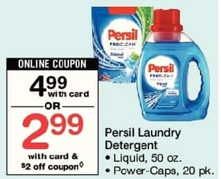 Walgreens Black Friday: Persil Laundry Detergent, 50 oz Liquid or Power-Caps 20 pk, w/Card and Coupon for $2.99