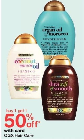 Walgreens Black Friday: OGX Hair Care, w/Card - B1G1 50% Off