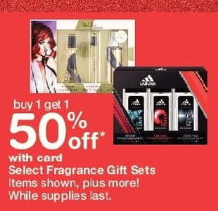 Walgreens Black Friday: Fragrance Gift Sets, Select Varieties, w/Card - B1G1 50% Off