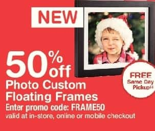 Walgreens Black Friday: Photo Custom Floating Frames, w/Card - 50% Off