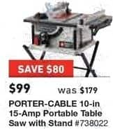 Lowes black friday porter cable 10 in 15 amp portable table saw lowes black friday porter cable 10 in 15 amp portable table saw with greentooth Choice Image