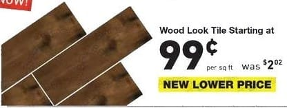 Lowe's Black Friday: Wood Look Tile - starting at $0.99/sq. ft.