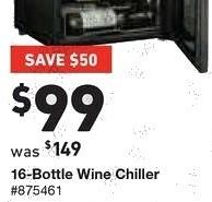 Lowe's Black Friday: Willz 16-Bottle Wine Chiller for $99.00