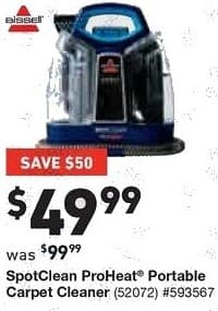 Lowe's Black Friday: Bissell SpotClean ProHeat Portable Carpet Cleaner for $49.99