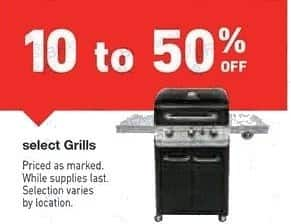 Lowe's Black Friday: Select Grills, Selection Varies by Location - 10-50% Off