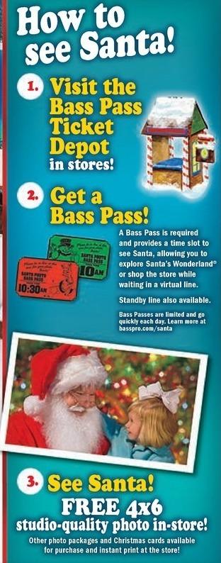 Bass Pro Shops Black Friday: 4x6 Studio Quality Photo w/ Santa for Free