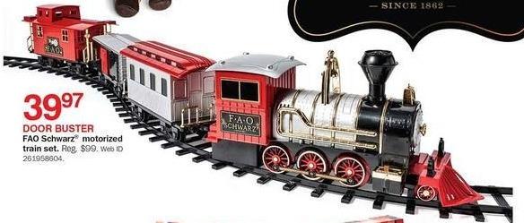 Bon-Ton Black Friday: FAO Schwartz Motorized Train for $39.97
