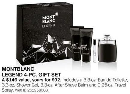 Bon-Ton Black Friday: Montblanc Legend 4-pc Gift Set for $92.00