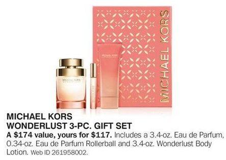 Bon-Ton Black Friday: Michael Kors Wonderlust 3-pc Gift Set for $117.00
