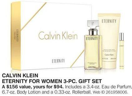 Bon-Ton Black Friday: Calvin Klein Eternity for Women 3-pc Gift Set for $94.00