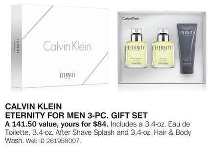 Bon-Ton Black Friday: Calvin Klein Eternity for Men 3-pc Gift Set for $84.00