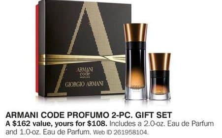 Bon-Ton Black Friday: Armani Code Profumo 2-pc Gift Set for $108.00