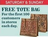 Cost Plus World Market Black Friday: Tote Bag for the First 100 Customers in Store, 11/25 and 11/26 for Free