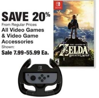 Fred Meyer Black Friday: All Video Games and Video Game Accessories - 20% Off