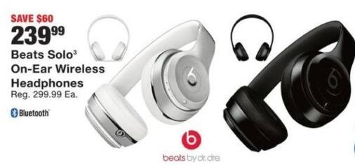 Fred Meyer Black Friday: Beats Solo On Ear Wireless Headphones for $239.99