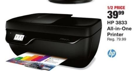 Fred Meyer Black Friday: HP 3833 All-I-One Printer for $39.99
