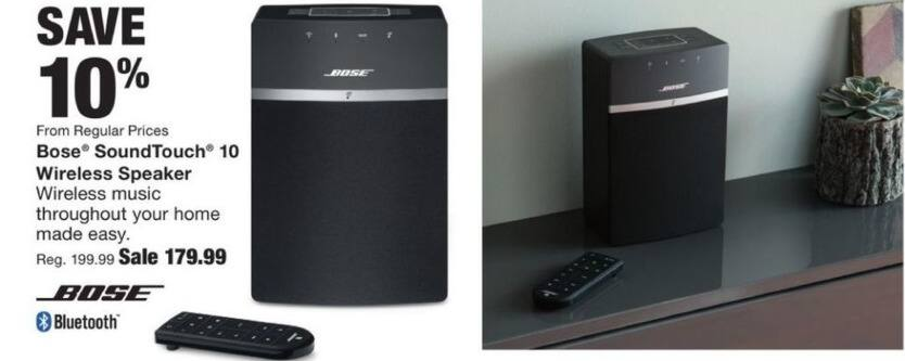 Fred Meyer Black Friday: Bose SoundTouch 10 Wireless Bluetooth Speaker for $179.99