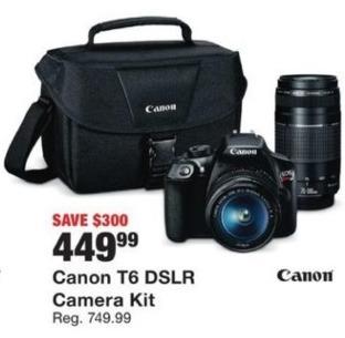 Fred Meyer Black Friday: Canon T6 DSLR Camera Kit for $449.99