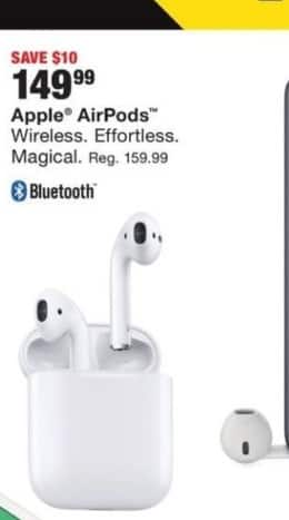 Fred Meyer Black Friday: Apple AirPods for $149 99