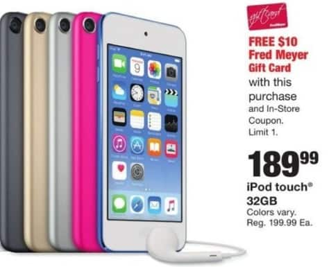 Fred Meyer Black Friday: 32GB iPod Touch + $10 Fred Meyer Gift Card for $189.99