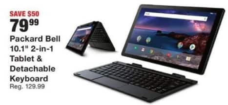 """Fred Meyer Black Friday: Packard Bell 10.3"""" Tablet with Detachable Keyboard for $79.99"""