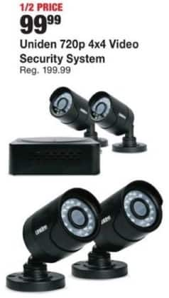 Fred Meyer Black Friday: Uniden 720p 4x4 Video Security System for $99.99