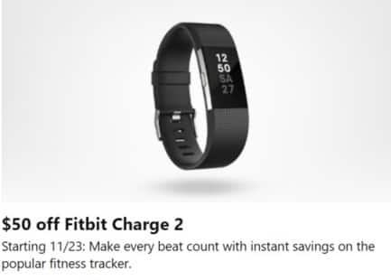 Microsoft Store Black Friday: Fitbit Charge 2 - $50 Off