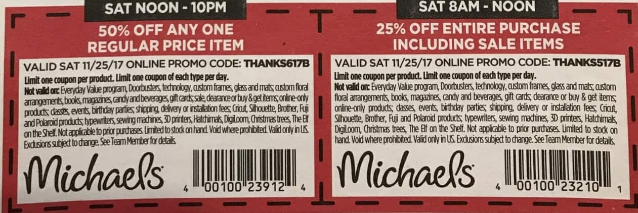 Michaels Black Friday: Any One Regular Price Item - 50% OFF