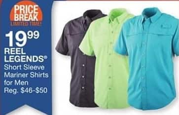 Bealls Florida Black Friday: Reel Legends Men's Short Sleeve Mariner Shirts for $19.99