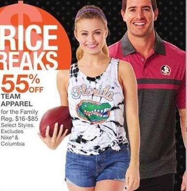 Bealls Florida Black Friday: Select Team Apparel for the Family - 55% Off