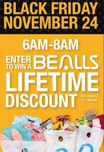 Bealls Florida Black Friday: Win a Bealls Lifetime Discount on Friday 11/24 - Chance to win