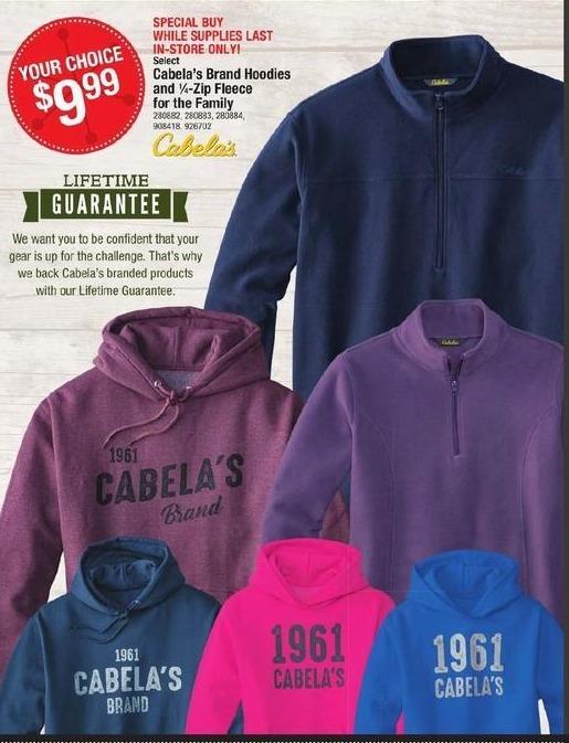 Cabelas Black Friday: Cabelas Hoodies for Men, Women and Kids for $99.99