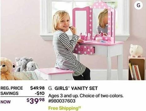 Sam's Club Black Friday: Girls' Vanity Set, Ages 3 and Up for $39.98