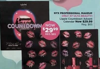 Ulta Beauty Black Friday: NYX Professional Makeup Lippie Countdown Advent Calendar for $29.99