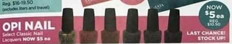 Ulta Beauty Black Friday: OPI Nail Lacquers for $5.00