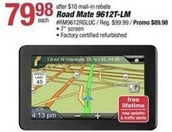 "Pep Boys Black Friday: Magellan Road Mate 9612T-LM, 7"" Screen (Refurbished) for $79.98 after $10 rebate"