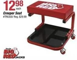 Pep Boys Black Friday: Big Red Creeper Seat for $12.98
