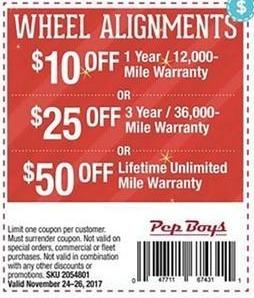 Pepboys Promo Code >> Pep Boys Black Friday Wheel Alignment 1 Yr 12 000 Miles