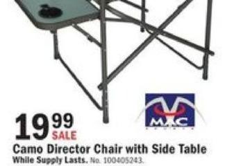 Mills Fleet Farm Black Friday: Camo Director Chair w/Side Table for $19.99