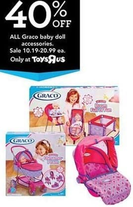 Toys R Us Black Friday: All Graco Baby Doll Accessories - 40% Off