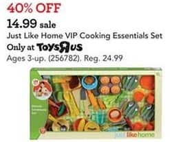 Toys R Us Black Friday: Just Like Home VIP Cooking Essentials Set for $14.99