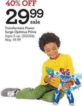 Toys R Us Black Friday: Transformers Power Surge Optimus Prime for $29.99
