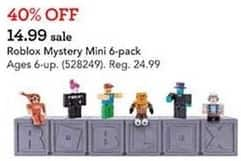 Toys R Us Black Friday: Roblox Mystery Mini 6-pack for $14.99