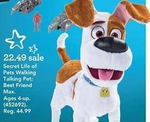 Toys R Us Black Friday: Secret Life of Pets Walking Talking Pet: Best Friend Max for $22.49