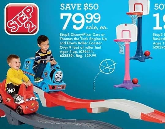 Toys R Us Black Friday: Step2 Disney/Pixar Cars or Thomas the Tank Engine Up and Down Roller Coaster for $79.99