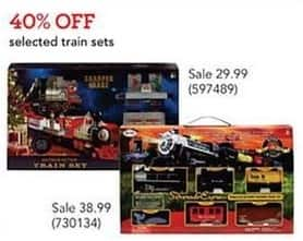 Toys R Us Black Friday: Train Sets, Select Styles - 40% Off