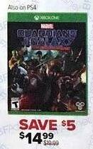 GameStop Black Friday: Guardians of the Galaxy Telltale Series (Xbox One/PS4) for $14.99