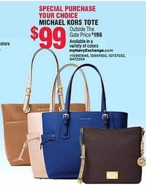 Navy Exchange Black Friday: Michael Kors Handbag Tote, Select Styles for $99.00