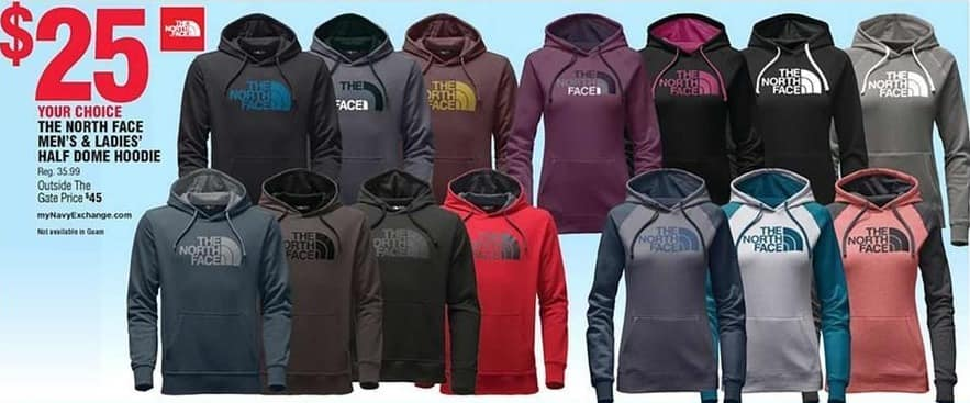 Navy Exchange Black Friday: The North Face Men's and Women's Half Dome Hoodie for $25.00