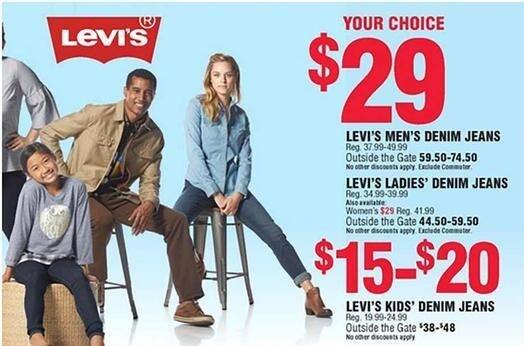 Navy Exchange Black Friday: Levi's Kids Jeans for $15.00 - $20.00